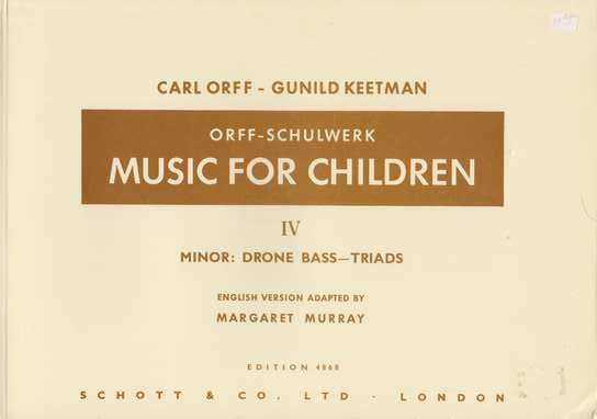 photo of Music for Children,  Vol. IV Minor, Murray ed.