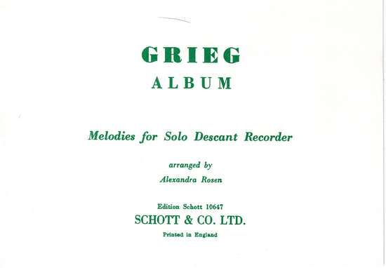 photo of Grieg Album