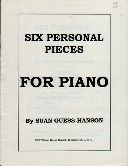 photo of Six Personal Pieces for Piano