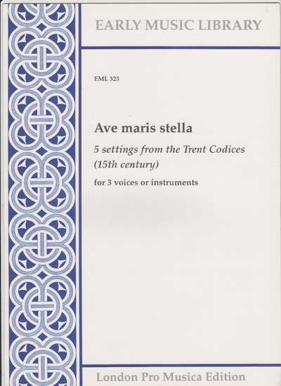 photo of Ave maris stella, 5 settings from the Trent Codices
