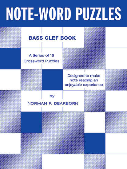 photo of Note-Word Puzzles, Bass Clef Book