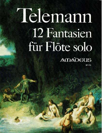 photo of 12 Fantasien fur Flote solo, with Facsimile, TWV 40:2-13