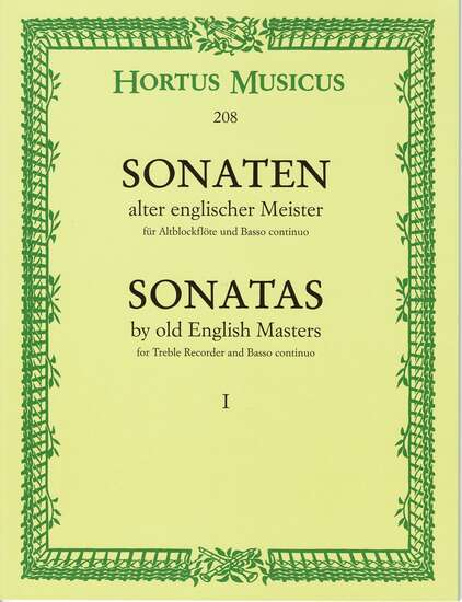 photo of Sonatas by old English Masters I, Williams, Parcham, Topham