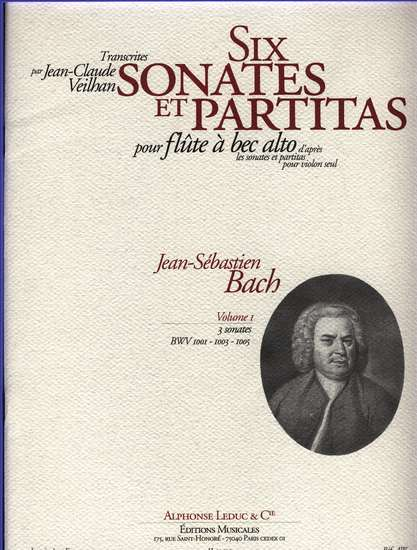 photo of Six sonatas for alto after BWV 1001, 1003 , 1005