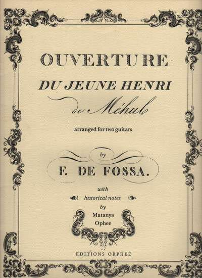 photo of Ouverture du Jeune Henri, facsimile, old copy