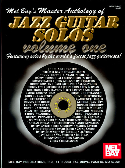 photo of Master Anthology of Jazz Guitar Solos, Vol. 1
